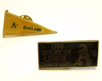 Oakland A's American League Champions 1988 Commemorative Pins