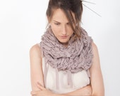 Airy Motion Scarf - Rose Blush - Hand knit - Winter fashion - for her