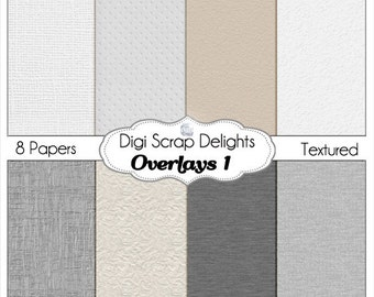 Overlay Textured Digital Papers for Photography, Digital Scrapbooking. cardstock textures,  knitted textures, Instant Download