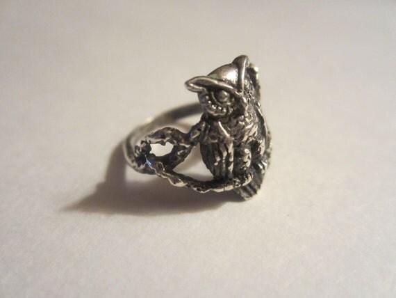 vintage sterling silver owl ring 925 vintage by