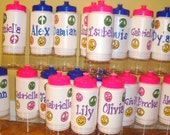 Water bottle kids birthday party favors snacks at bottom 2 parts so cute
