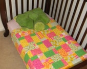 Bright and Colorful Crib Quilt