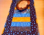 Tan and Turquoise Table Runner