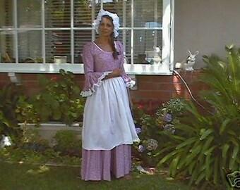 3 pc colonial women dress pilgrim dress historical dress american dress made to measurement
