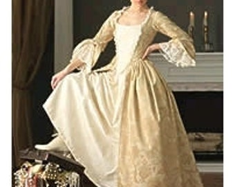 marie antoinette gown costume made to measurement choice of color