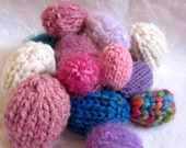 Hand knit eggs - sizes Large, medium, or small