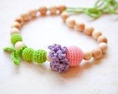 Nursing Breastfeeding necklace - teething toy - nursing jewellery - Wrap Baby Carrier Sling Accessory