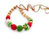 Nursing Breastfeeding necklace - teething toy - watermelon