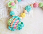 Teething toy - Nursing Necklace - Pastel Fish