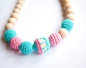 Nursing Breastfeeding necklace - teething toy - Babywearing - different colors
