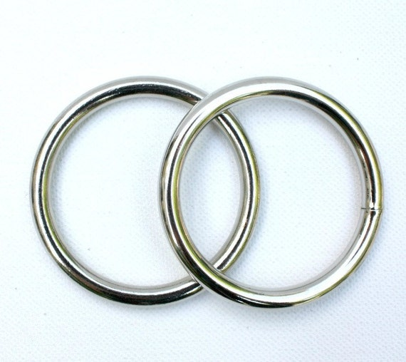 O Rings - 1 inch (10 pairs) O Ring Belt Buckles - Heavyweight Welded Steel O Rings