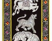 Handmade Traditional Indian Madhubani painting (2.5 x 8 inches)