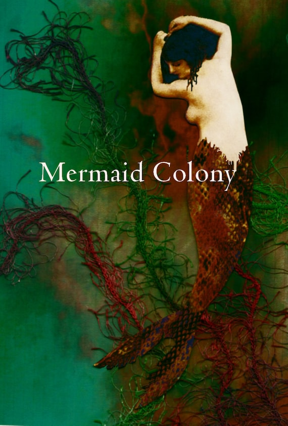 Tangled in Love... Mermaid art card with poem inside