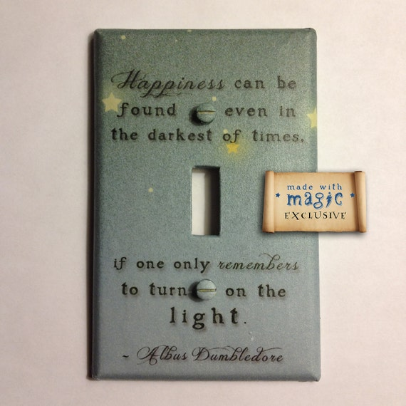 "Harry Potter Inspired ""Turn On The Light"" Switch plate"