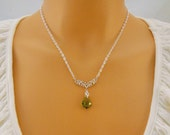 Splash of Chartreuse: Swarovski Necklace