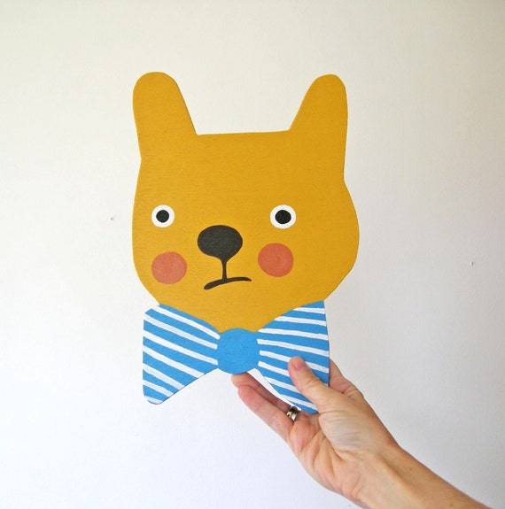 Yellow Bear with Bow Tie