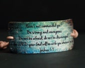 Beach Inspired Joshua 1:9 Scripture Bracelet