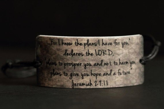 Brown Jeremiah 29:11 Scripture Bracelet