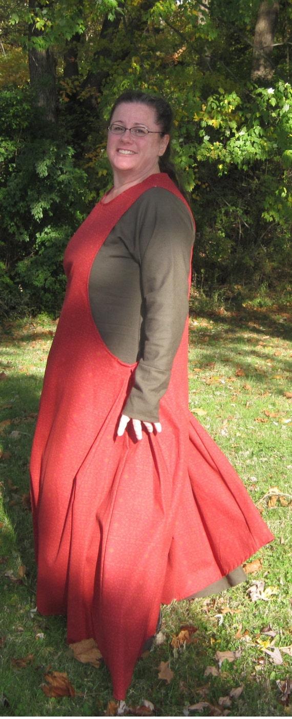 SCA Sideless Surcoat Plus Size Medieval Renaissance Overdress