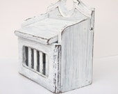 Distressed Shabby Chic White Recipe Box - Kitchen Storage - SALE 20% OFF with coupon code