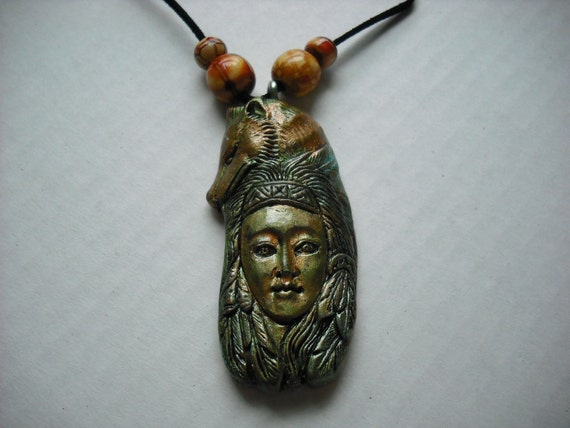 american wolf totem necklace