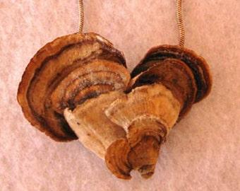 Woodland Mushroom Valentine Pendant , Multiple Hearts