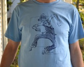 Unique Gift Pipe Creek Dancing Grandpa Design T Blue Shirt