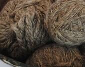 Handspun Organic Wool 2 Ply, Undyed