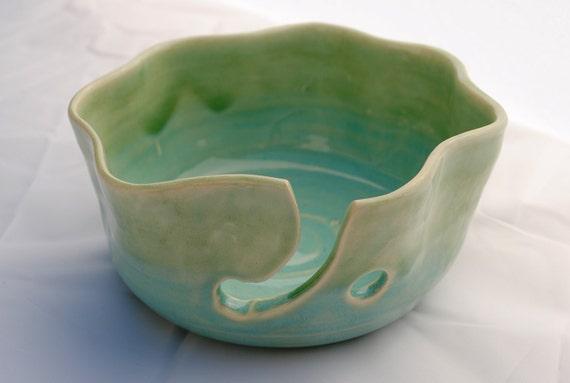 Handthrown Ceramic Yarn or Knitting Bowl with Free Shipping