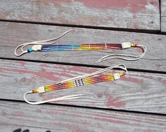 """Native American Inspired Design - Beaded Choker - """"Fire Burst"""" or """"Setting Sun"""""""