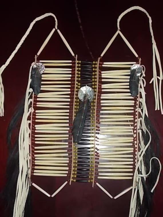 "Native American inspired design Lakota Sioux Breastplate - ""Ozuie Wanati"" - Warrior Spirit  (SOLD)"