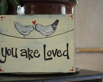 you are loved handmade card