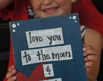 love you to the moon and back father's day card