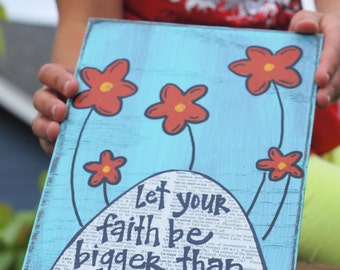Let your faith be bigger than your fear handmade card