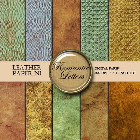 Leather Texture digital paper pack leather digital paperbackground vintage digital Scrapbook leather Textured Paper background steampunk