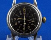 Post WWII Waltham Type A-17 Pilot's Watch Navigation Hack MIL-W-6433 10616
