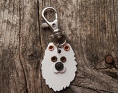Keychain ID Key Chain Tag Samoyed Breed Dog Pet Lover Metals Custom Rivets Stamped