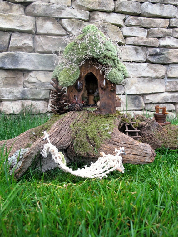 Terrace Moss...A OOAK Garden Fairy Home - 20% off (code is FAIRYCHRISTMAS)