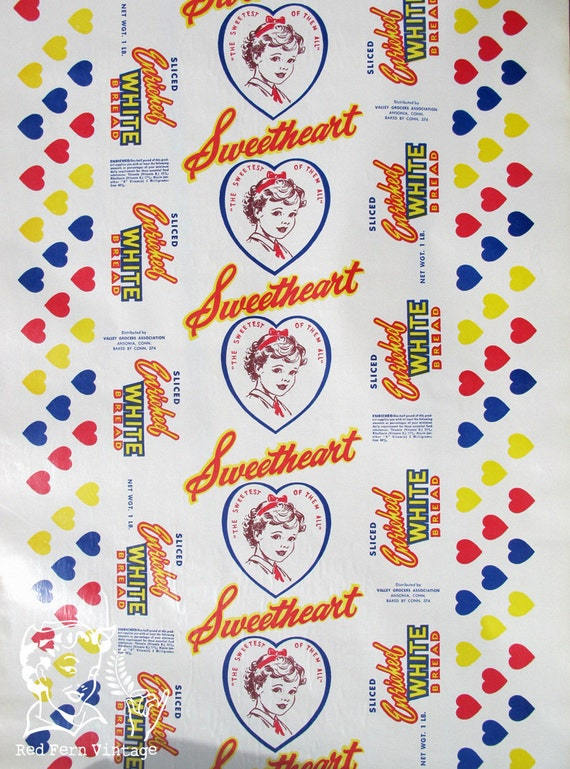 Vintage Sweetheart White Bread Paper