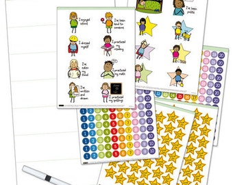 Get Ready for Elementary School, My Growing Up Reward Chart, School Readiness chart, Manage challenging behavior with positive reinforcement