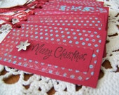 Christmas Holiday Tag for gifts, party favor bags, baked goods label