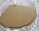 Rustic Primitive Wedding Wish Tree Tags Extra Large Kraft Favor Tags Blank 4.5 Inch Labels - set of 25