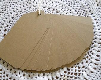Kraft Escort Tags, Large Kraft Gift Tags, Wedding Wish Tree 3.5 Inch Blank Favor Tags - set of 25