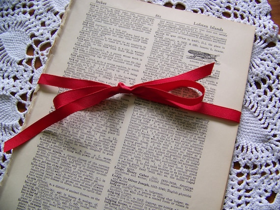 Vintage Dictionary Pages for Crafts, Scrapbooking, Altered Art