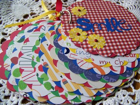 Mini Scrapbook Album School Teacher Christmas Gift Premade