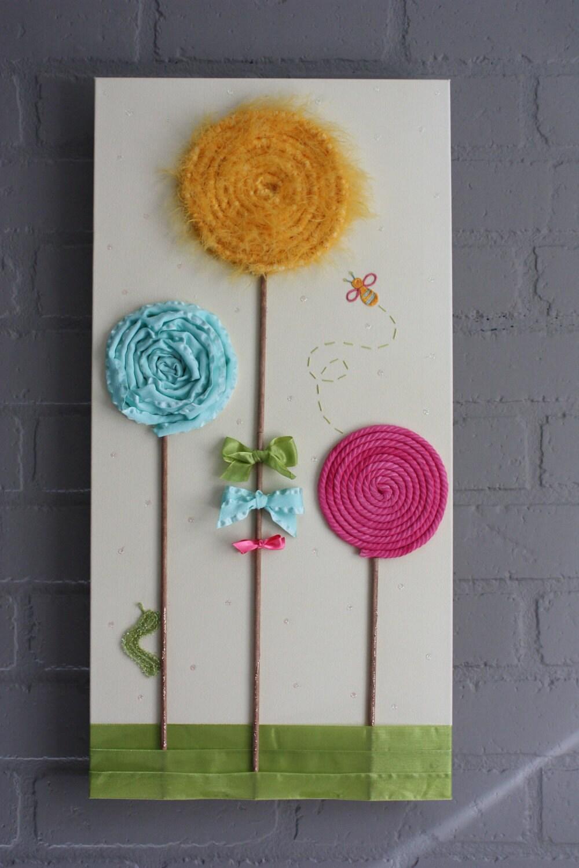 Lollipop Garden 3D Canvas Art