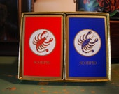 Vintage Congress Playing Cards Scorpio Cel-U-Tone Finish