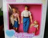 Vintage Horsman Doll House Family
