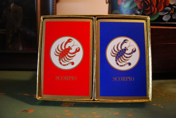 Vintage Congress Playing Cards Scorpio Cel-U-Tone Finish