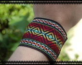 Tribal Fabric Cuff Bracelet
